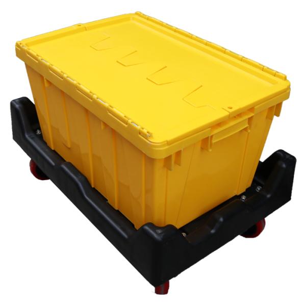 yellow plastic totes