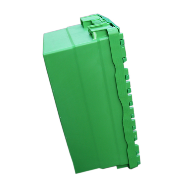 green storage boxes with lids